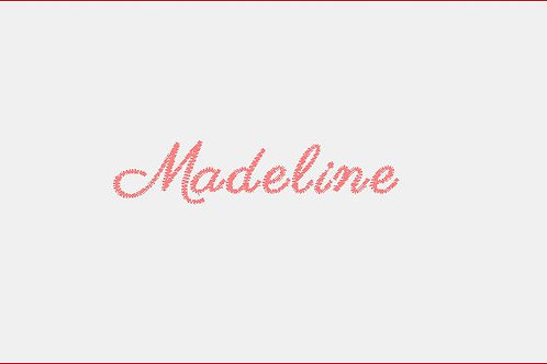 Design Your Own Bib or Baby Rag ~Madeline Font