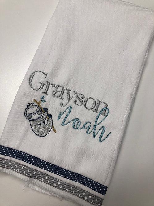 Grayson Noah Sloth Baby Rag