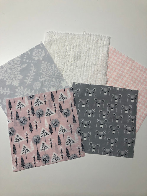 Pink/Gray Bear/Trees Play Quilt
