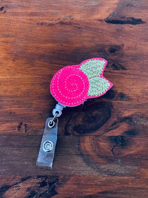 Rose Retractable Badge Reel