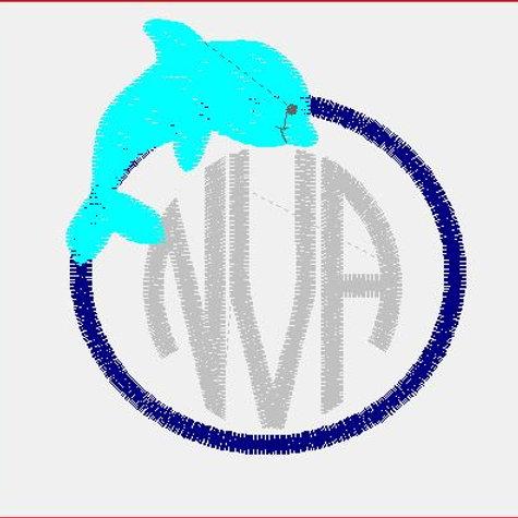 Dolphin Monogram Baby Rag