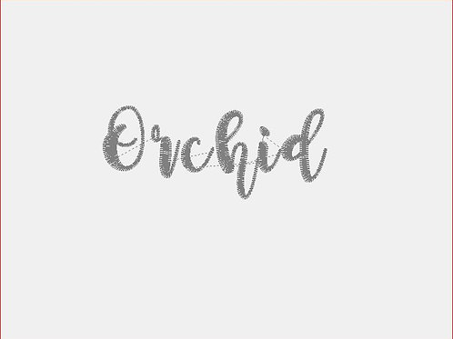 Design Your Own Bib or Baby Rag ~Orchid Font