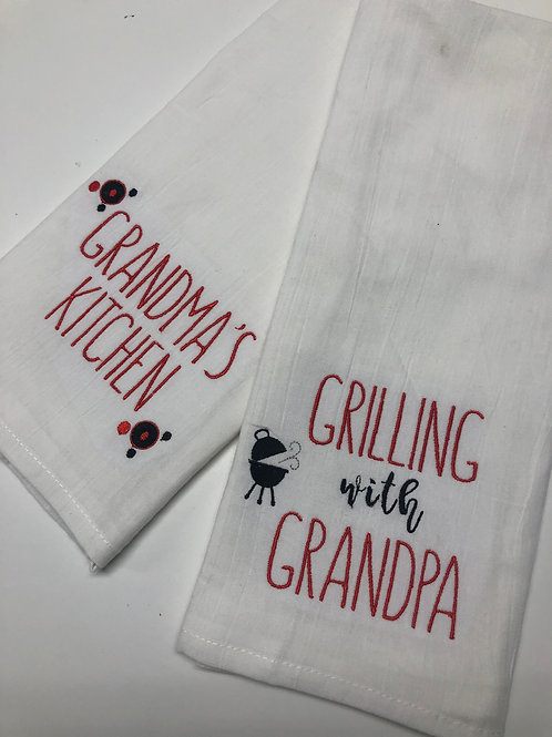 Grandma or Grandpa Kitchen Tea Towel