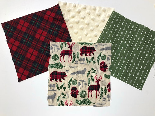 Red/Cream/Green Woodland Plaid Play Quilt