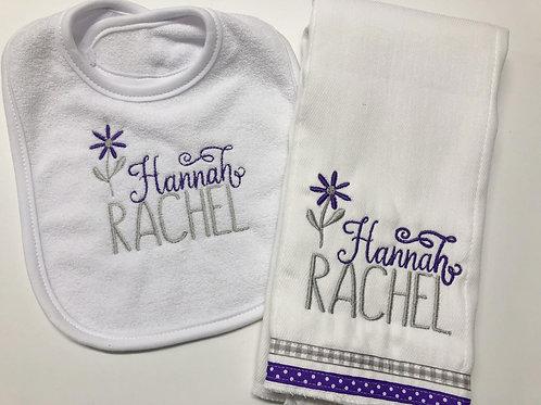Hannah Rachel Bib/Rag Set