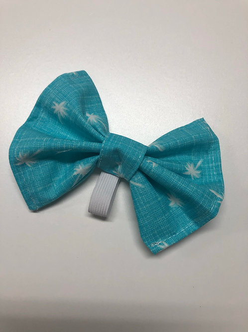 Palm Tree Pup Bow Tie