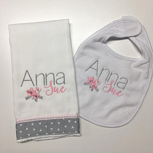 Anna Sue Bib/Rag Set