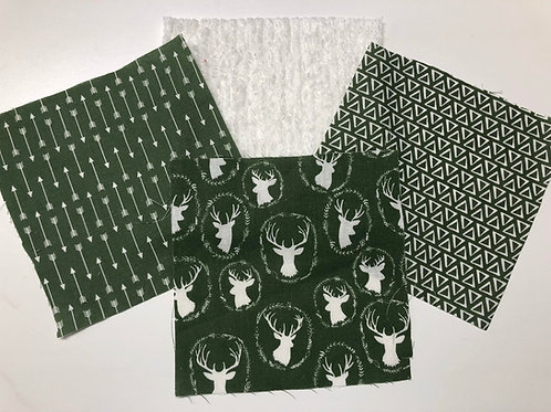 Green Deer Play Quilt