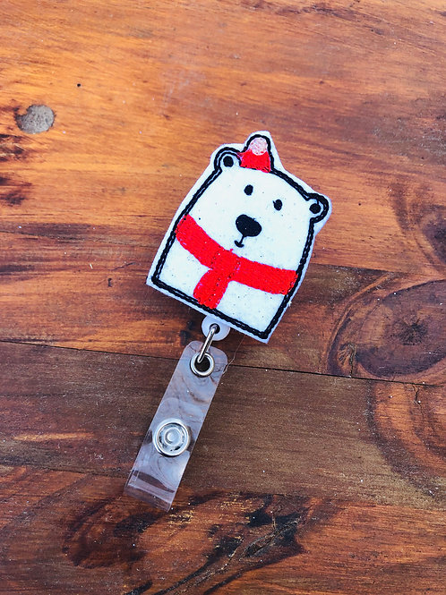 Polar Bear Retractable Badge Reel