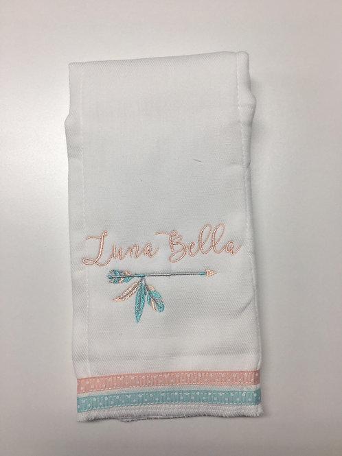 Luna Bella Arrow/Feather Baby Rag