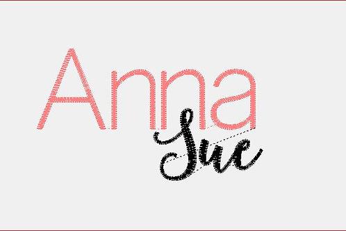 Design Your Own Bib or Baby Rag ~Anna Sue Font