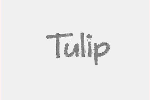 Design Your Own Bib or Baby Rag ~ Tulip Font