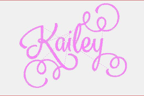 Design Your Own Bib or Baby Rag ~Kailey 2 Font