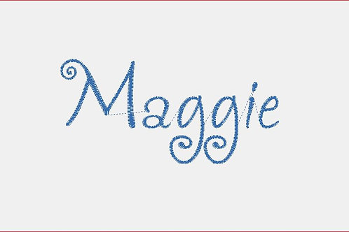 Design Your Own Bib or Baby Rag ~Maggie Font