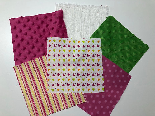 Pink/Green Hearts Play Quilt