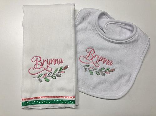 Brynna Bib/Rag Set
