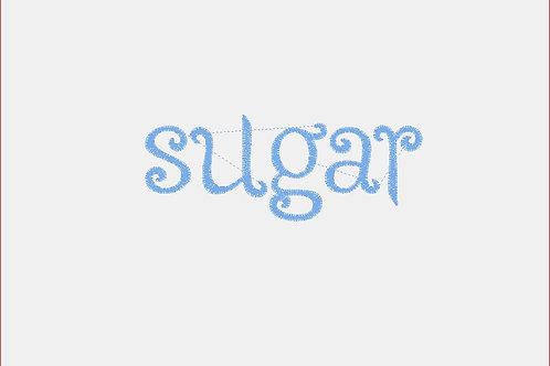 Design Your Own Bib or Baby Rag ~ Sugar Font