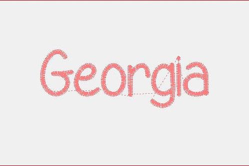 Design Your Own Bib or Baby Rag ~Georgia Font
