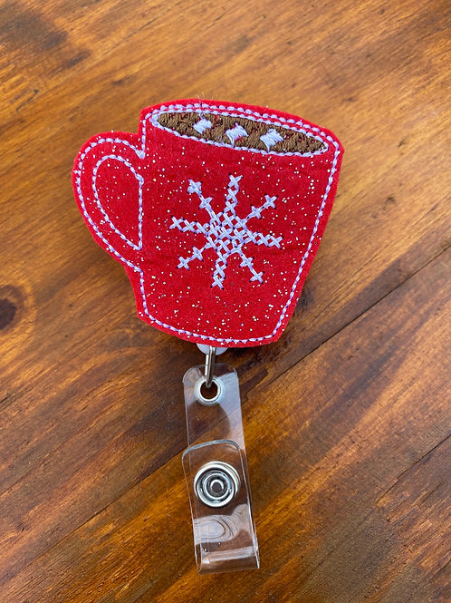 Hot Cocoa Retractable Badge Reel