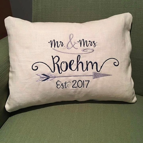 Mr. & Mrs. Wedding Pillow