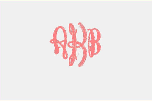 Design Your Own Bib or Baby Rag ~AKB Monogram Font