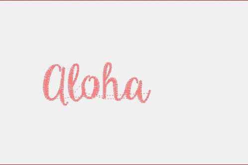 Design Your Own Bib or Baby Rag ~Aloha Font