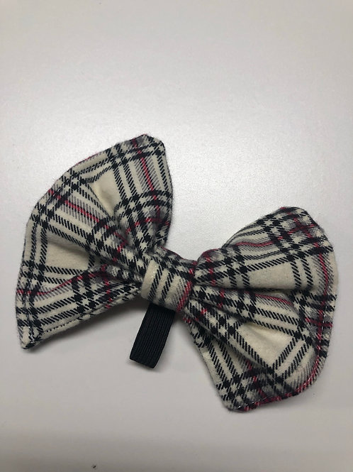 Flannel Plaid Pup Bow Tie