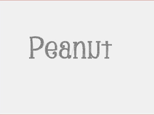 Design Your Own Bib or Baby Rag ~Peanut Font