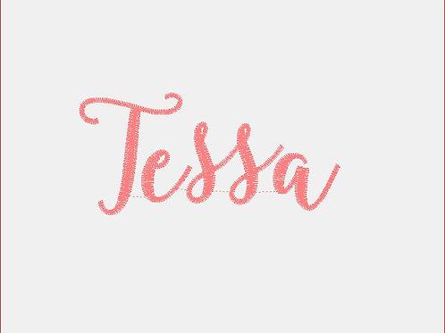 Design Your Own Bib or Baby Rag ~Tessa Font