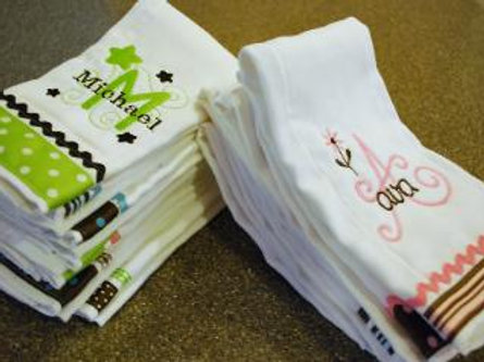 Design Your Own Baby Rag With First and Middle Name