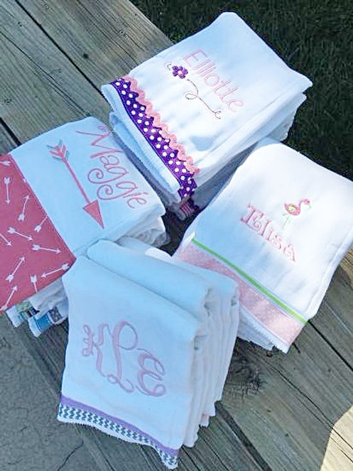 Design Your Own Baby Rag or Bib with First and Middle Name