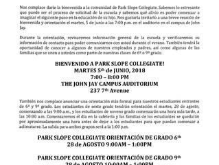 Welcome Orientation (Spanish)