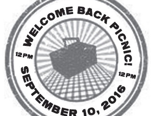 Welcome back BBQ - September 10!