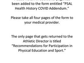 PSAL Medical Form