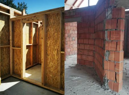 Timber frame vs Zidărie: scurtă comparație între cele 2 sisteme structurale
