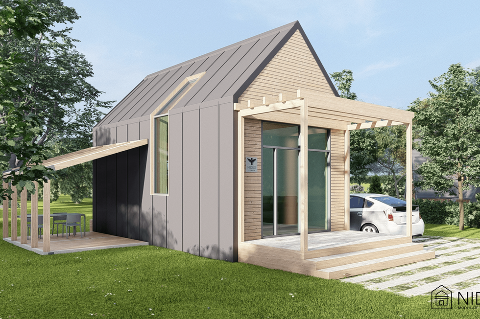 Nidus Home - o casa modulara prefabricata cu materiale naturale