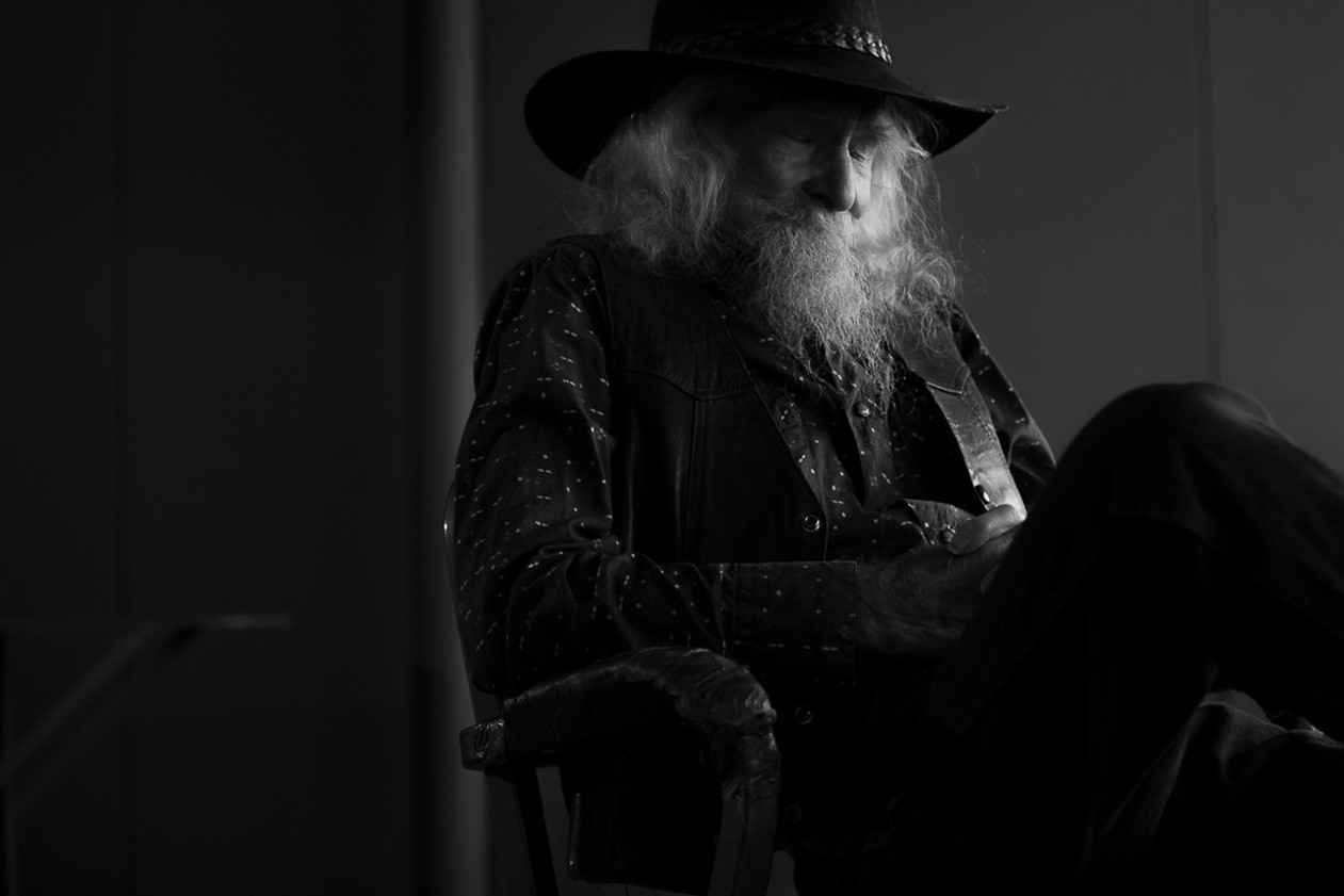Donald, 88 years old, closes his eyes for a moment of rest. Santa Fe, NM