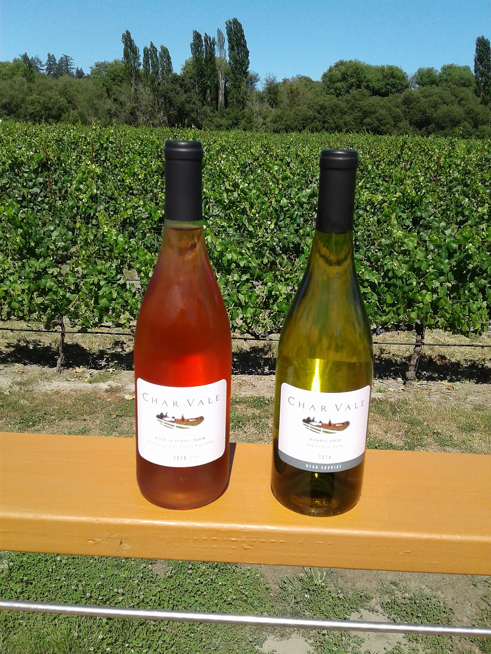 Rose & Pinot Gris at Char Vale