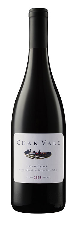 Char Vale 2015 Estate Pinot Noir, Green Valley of the Russian River Valley