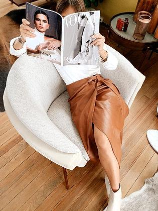 Falda Knot marrón
