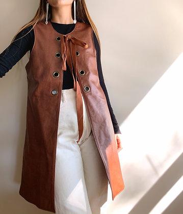 Chaleco Tie marrón