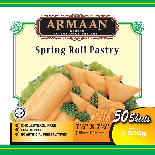 Springroll Pastry (50 Sheets) 7.5 inches