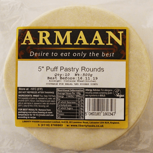 "Armaan 5"" inch Puff Pastry Round"