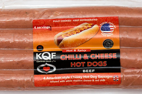 KQF Chilli & Cheese Hot Dogs