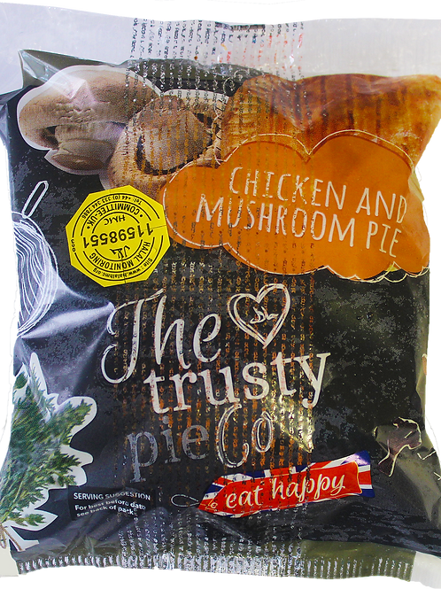 The Trusty Pie Co. Chicken and Mushroom Pie