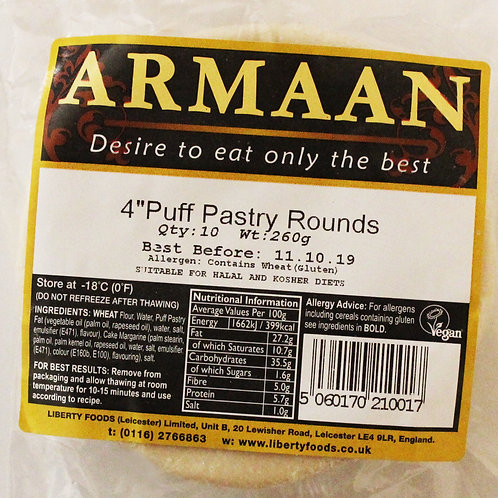 """Armaan 4"""" inch Puff Pastry Round"""