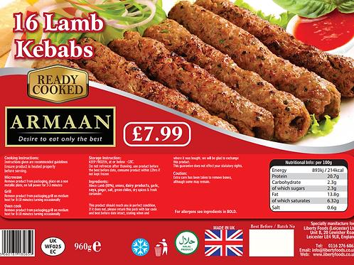 Armaan 16 Lamb Kebabs