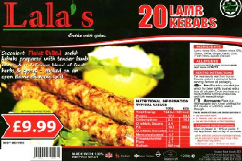 Lala's Lamb Kebabs
