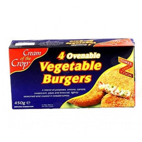 Cream of the Crop Vegetable Burgers