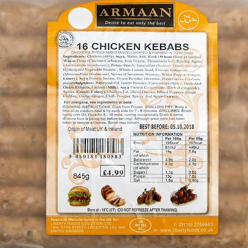 Armaan 16 Chicken Kebabs